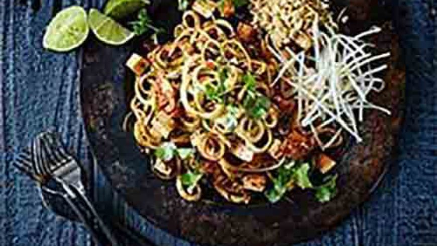 Kimchi and Zucchini Pad Thai